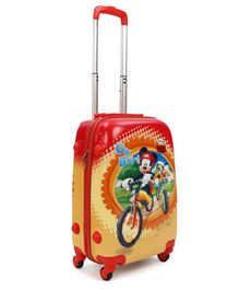 Disney Mickey Mouse & Friends Kids Trolley Bag Red Yellow - 20 Inches