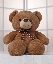Dimpy Stuff Teddy Bear Soft Toy  Dark Brown - Height 80 cm (Neck Tie Design May Vary)