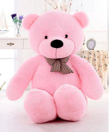 Frantic Teddy Bear With Black Bow Pink - Height 91 cm