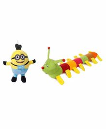 Deals India Minion & Caterpillar Soft Toy Pack of 2 - Multicolour