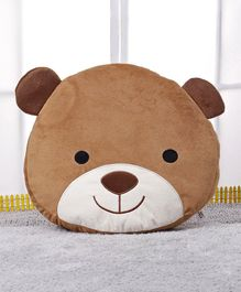 Starwalk Bear Face Plush Cushion - Brown