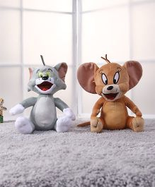 Tom and Jerry Plush Soft Toy Grey Brown - Pack of 2