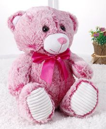 Starwalk Printed Teddy Bear Plush Soft Toy Pink - 25 cm