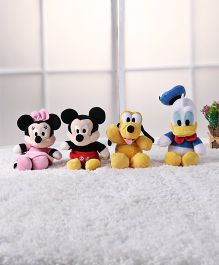 Disney Mickey Mouse & Friends Plush Soft Toy Multicolour - Pack of 4