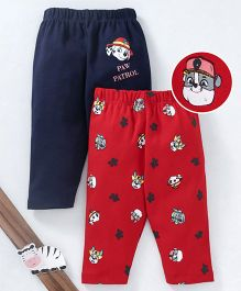 Mom's Love Full Length Leggings Paw Patrol Print Pack of 2 - Red & Navy