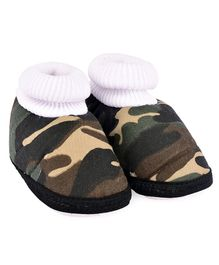 Morisons Baby Dreams Baby Booties Camouflage Print - Brown & Green