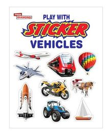 Play With Sticker Vehicles Book - English