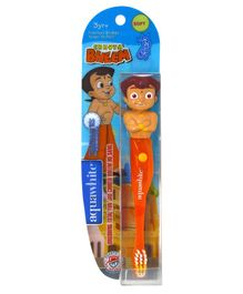 aquawhite Chhota Bheem Spark Figurine Timer Flash Light Soft Toothbrush - Orange