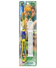 aquawhite The Jungle Book Watchha Soft Toothbrush With Case - Yelloa