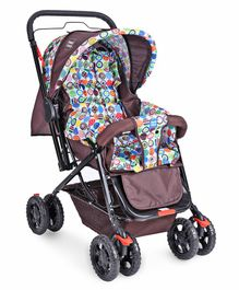 Mee Mee Baby Pram With Reversible Handle - Brown