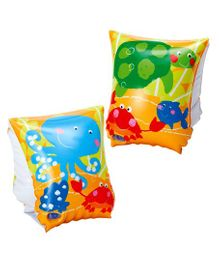 Intex Inflatable Swimming Arm Bands Fun Fish Print Set of 2 - Multicolor