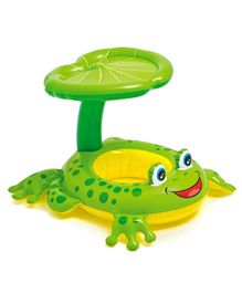 Intex Froggy Shape Swimming Ring WIth Canopy - Green