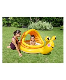 Intex Baby Snail Pool With Sunshade - Yellow