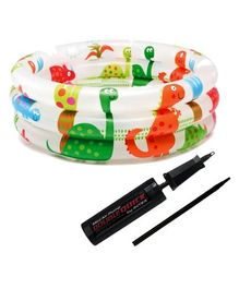 Intex Dinosaur Ring Baby Pool With Air Pump - Multicolor