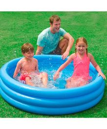 Intex Crystal Inflatable Swimming Water Pool - Blue