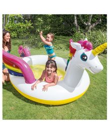 Intex Mystic Unicorn Spray Pool - Multicolour