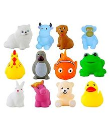 Emob Animal Shaped Squeezy Bath Toys Set of 14 - Multicolour