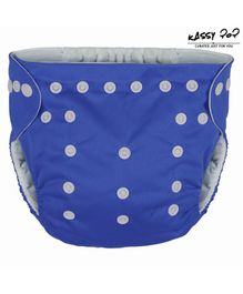 Kassy Pop Reusable Diaper Cover With Cotton Absorbing Pad - Blue