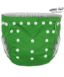 Kassy Pop Reusable Diaper Cover With Cotton Absorbing Pad - Green