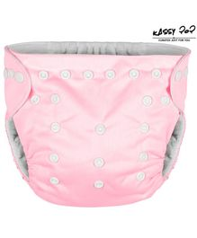 Kassy Pop Reusable Diaper Cover With Cotton Insert - Light Pink
