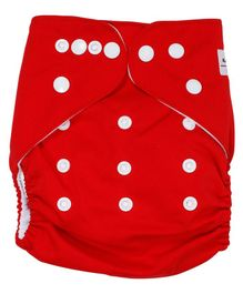 Kassy Pop Reusable Diaper Cover With Cotton Insert - Red