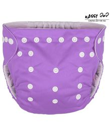 Kassy Pop Reusable Diaper Cover With Cotton Insert - Light Purple