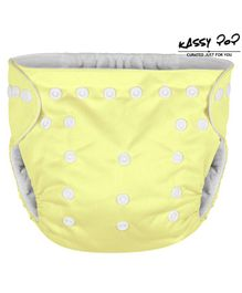 Kassy Pop Reusable Diaper Cover With Cotton Insert - Light Yellow