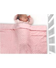Kassy Pop Fleece Blanket - Pink