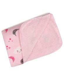 Kassy Pop Organic Microfiber Fleece Blanket Moon Print - Pink