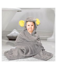 Kassy Pop Microfiber Fleece Hooded Blankets - Grey