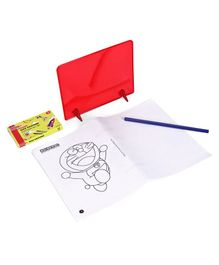 Doraemon DIY Mirror Drawing Set - Multicolor