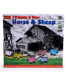 Buddyz 3D Mould & Paint Horse Sheep - Multicolour