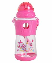 Sipper Water Bottle With Strap Pink - 500 ml