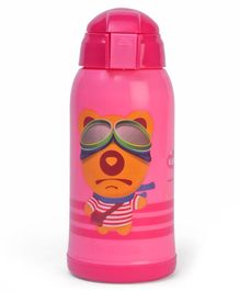 Sipple Water Bottle With Push Button Pink - 330 ml