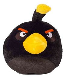 Angry Birds Soft Toy Black - Height 12.7 cm