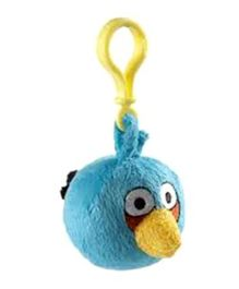 Angry Birds Clip On Soft Toy Blue - Height 7 cm