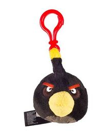 Angry Birds Clip On Soft Toy Black - Height 7 cm