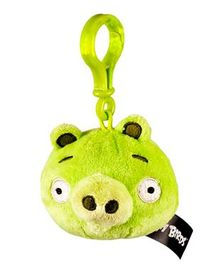 Angry Birds Clip On Soft Toy Green - Height 7 cm