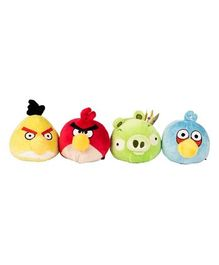Angry Birds Collectibles Plush Toys Set of 4 - Multicolour