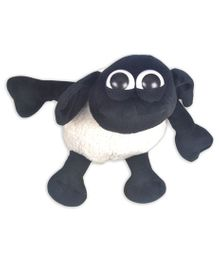 Shaun the Sheep Shaped Soft Toy Black White - Height 10 cm