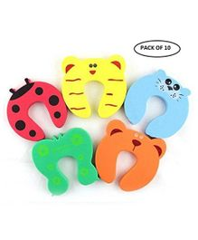 Syga Children Safety Foam Door Stopper Pack Of 10 - Multicolor