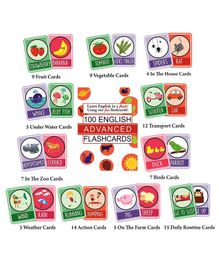 Syga English Educational Flash Cards Pack of 100 - Multicolour