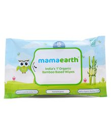 Mamaearth Bamboo Based Baby Wipes - 15 Pieces
