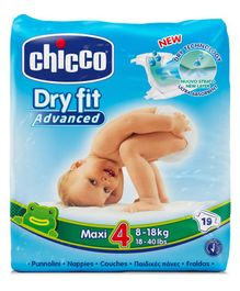Chicco Dry Fit Advanced Diapers Maxi Size - 19 Pieces
