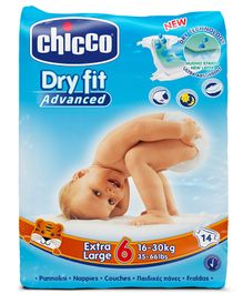 Chicco Dry Fit Advanced Diapers Extra Large Size - 14 Pieces