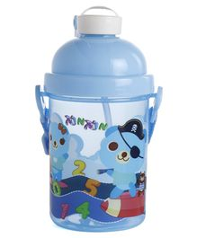 Push Button Straw Sipper Blue - 400 ml