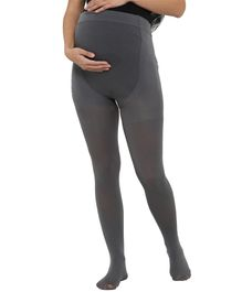 Mamacouture Full Length Solid Maternity Stockings - Grey