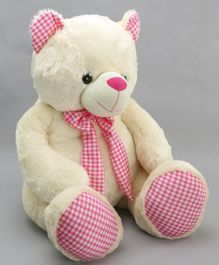 Dimpy Stuff Teddy Bear Soft Toy Off White - Height 80 cm