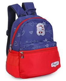 School Bag Heart Print Purple & Red - 12 Inches