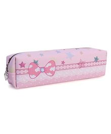 Rectangle Pencil Pouch Star Print - Light Pink